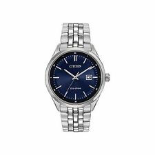 Citizen Bracelet Eco-Drive Analog Blue Dial Men's Dress Wrist Watch BM7251-53L