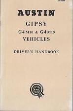Austin Bmc Gipsy g4 m10 + g4 m15 driver's Handbook 1962 MANUALE DI ISTRUZIONI BA