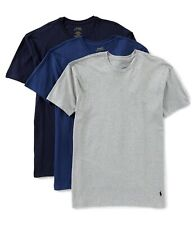 NEW! Ralph Lauren Polo Classic Fit 3 Crewnecks Gray & Blues Sz M Wicking $42.50