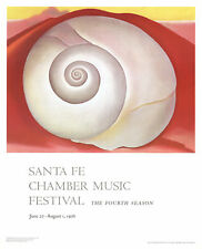 White Shell on Red Earth by Georgia O'Keeffe Art Print 1976 Poster 35x28