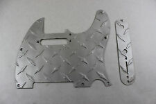 Satin Aluminum Diamond Plate Tele Pickguard Set Fits Fender Telecaster  USA
