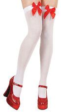 Blanco sobre la rodilla con rojo lazo NUEVO - ACCESORIO ACCESORIO CARNAVAL