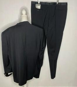 Jhane Barnes Mens Size 48L Wool Tuxedo Emilio Black New With Tags
