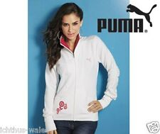Donna Puma Con Cerniera Giacca Taglia XS Bianco con Logo Rosa #6