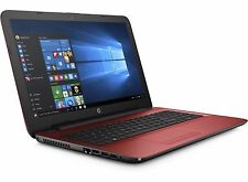 "HP 17 17.3"" Notebook Core i3-6100U 2.3GHz 4GB 1TB DVDRW WiFi W10 Red Laptop"