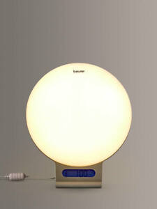 Beurer White WL 75 Wake Up App Controlled Mood Light Lamp Sunrise Sunset Music