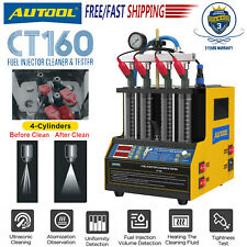 Autool Ct160 Ultrasonic Fuel Injector Cleaner Tester 4 Cylinder Petrol Car Motor