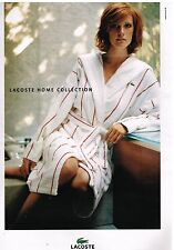 Publicité Advertising 2004 Linge de maison peignoir Lacoste