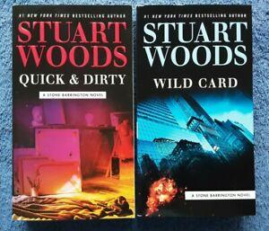 STUART WOODS x 2 - Quick & Dirty + Wild Card <Soft, Near Fine>
