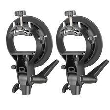 Neewer 2Pcs S-Type Bracket Holder with Bowens Mount for Speedlite Flash Softbox