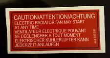 AUDI RADIATOR FAN WARNING STICKER UR QUATTRO B2 C3 100 CC GTI MB WR 443 000 391