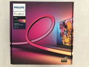 "BRAND NEW IN HAND PHILIPS HUE PLAY GRADIENT LED BACKLIGHT LIGHTSTRIP FOR 55"" TV!"