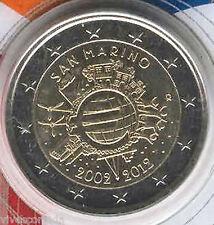 San Marino 2012 Cartera oficial 2 Euros 10º Aniversario del Euro
