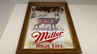 Vtg Miller High Life  Wildlife Series Deer Mirror Beer Sign