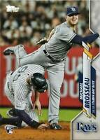 🔥Michael Brosseau 2020 Topps #133 ROOKIE Card RC Tampa Bay Rays