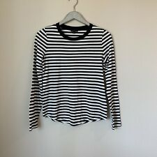 COS Dark Navy White Striped Soft Long Sleeve Shirt Size Extra Small XS