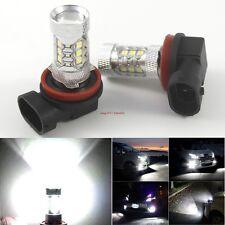 2 X H11 80W CREE LED Fog Tail Driving Car Head Light Lamp Bulb Super White 6000K