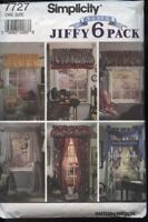 Simplicity 7727 Sewing Pattern 'Abbie's Jiffy 6-Pack' Curtains~Pouf~Valence UC