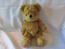 Vintage Teddy Bear, Thirteen Inches, Gold Mohair, Origin Unknown