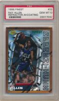 RAY ALLEN 1996/97 FINEST #22 RC ROOKIE REFRACTOR W/ COATING SP PSA 10 GEM MINT