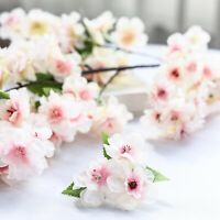 """4 BLUSH 40"""" tall Bushes with Silk Cherry Blossoms Flowers Party Wedding Bouquets"""