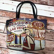Vintage Las Vegas Strip Hand Bag Beaded design 7.5 x 8 x 2.5 **SHIPS FREE**