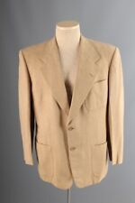 Vtg Men's 1950s Moorbrook Beige Wool Blazer sz Large Reg 50s Jacket