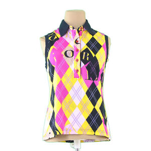 Dior Polo shirt Yellow Black Woman Authentic Used L1938