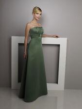 Mori Lee Bridesmaid Dress Style 228 Asparagus Green Size 11/12 Sleeveless