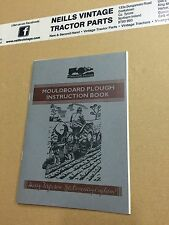 Ferguson t20 mould board plough instruction book manual  tractor grey