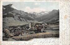GRUSS AUS ADELBODEN TO INTERLAKEN SWITZERLAND POSTCARD 1902
