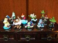 Used Kaiyodo Moomin's Lunch Bottle Cap Figure Collection Snufkin Japan Lot 9pcs