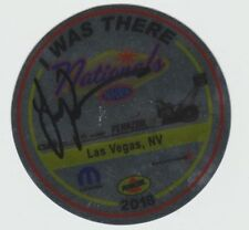 """2018 Leah Pritchett signed """"I Was There"""" Pennzoil  Las Vegas NHRA Decal Sticker"""