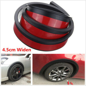 2x Universal 4.5cm/1.5M Car Fender Flare Extension Wheel Eyebrow Trim Protector