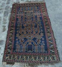 Y117 Vintage Afghan Prayer Rug Baluchi Rug/ Handmade Tribal Decor rug 3' x 5'9
