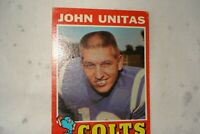 1971 Topps Johnny Unitas #1 Football Card
