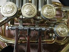 DOUBLE FRENCH HORN GOLD CREST ROTOR CAPS AND TONE BOOSTERS, 4 PC. SET