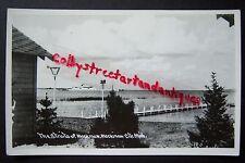 The Straits of MACKINAW, Mackinaw City, Michigan vintage RPPC postcard, ship