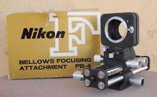 NIKON PB-4 Bellows Focusing attachment in box w/ swing shift adjustment EXC+ PB4