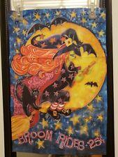 New listing Broom Rides Halloween Witch Garden Flag/ Banner