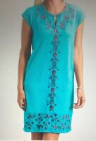 Fresh Produce NWT Embroideted Kayda Dress  Blue Red New Size XL