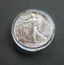 1987 US American Silver Eagle Brilliant Uncirculated Bullion Coin, From New Roll