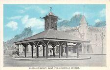 D88/ Louisville Georgia Ga Postcard c1915 Old Slave Market Built 1758