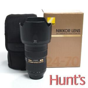 NIKON N AF-S NIKKOR 24-70mm f2.8G ED AUTO FOCUS LENS w/BOX AND CASE