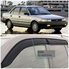 Wide Window Visors Side Guard Vent Deflectors For Toyota Corolla Sd 1987-1991