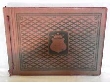 Vecchio album fotografico SALERNO bambino cartoncino nero con foto 13 fogli per