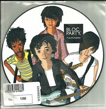 BLOC PARTY & MYSTERY JETS Pioneers w/RARE MIX NUMBERED PICTURE DISC 7 INCH VINYL