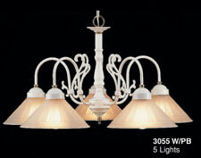 3055 W/PB-Chandelier, White