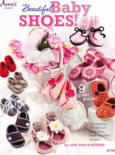 SALE - Beautiful Baby Shoes - crochet book with 9 cute designs for your baby