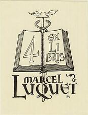 EX-LIBRIS MARCEL LUQUET IMPRIMEUR à AUCH (GERS), PAR DANIEL MEYER.